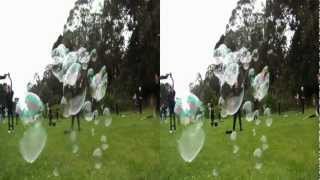 Soap bubble artists take over Golden Gate Park in 3D