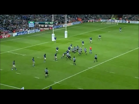 Thierry Dusautoir's record 38 tackles and Try vs New Zealand RWC 2007