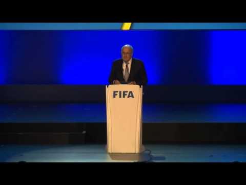 Brasil 2014 / #Blatter, durante el congreso de la #FIFA en Sao Paulo