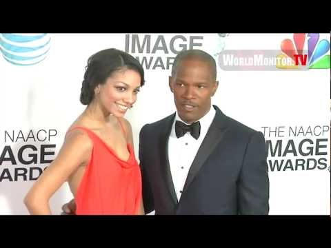 Jamie Foxx and daughter Corinne Bishop attend The 44th NAACP Image Awards