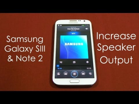 Galaxy S3 & Note 2 Sound Mod - Improve Audio Quality (Speakers. Headphones & Earpiece)