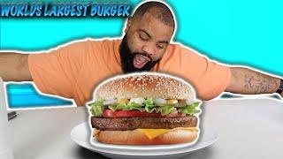 WORLD'S BIGGEST CHEESEBURGER CHALLENGE| man vs food