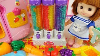 Baby doll refrigerator fruit Orbeez cake and beaty toys baby Doli play