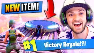 """Using the NEW """"JUMP PAD"""" in Fortnite: Battle Royale!"""