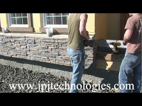 Installation Of The New Stacked Stone Panels Video 1 Youtube