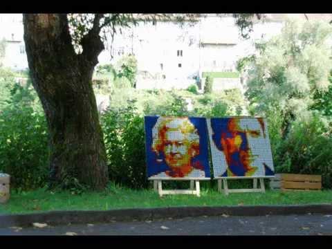 Queen & Daniel Craig (Bilder aus 450 Rubiks Cubes)