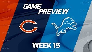 Chicago Bears vs. Detroit Lions | NFL Week 15 Game Preview | NFL Playbook
