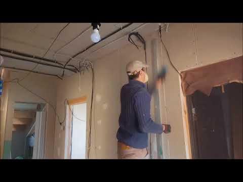 Электрика в СИП доме, фрезерование штроб в гипсокартоне