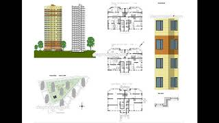 Download file Apartment Plans free dwg file