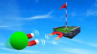 HOLE In ONE Using CHEAT Magnets?! (Golf It)