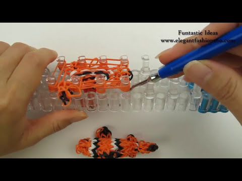 Rainbow Loom Fish/Clown Fish/Finding Nemo 3D Charm - How to
