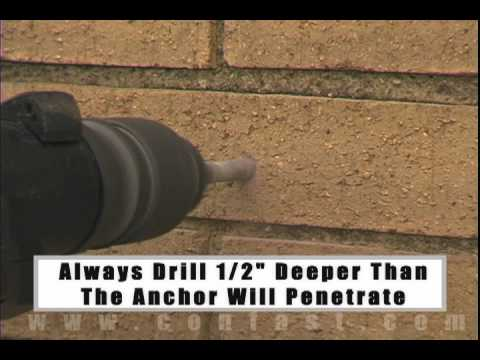 Using Sleeve Anchors To Attach Conduit To A Brick Wall