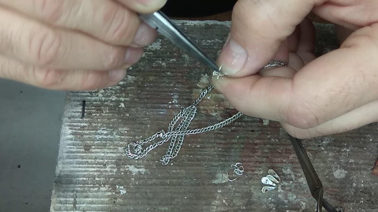 Запаять серебряную цепочку своими руками