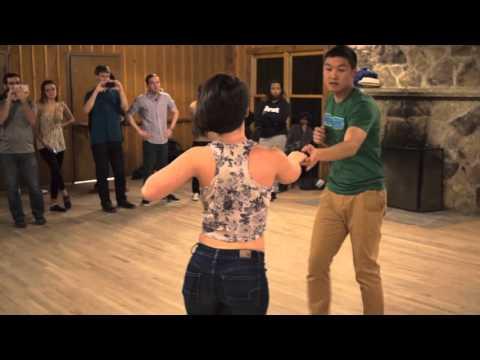 Robert Chiu & Haley Tiller - Zouk Demo in Atlanta at Beginner Zouk Class