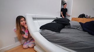 I Snuck into My Boyfriends Bedroom for 24 Hours... (CAUGHT)