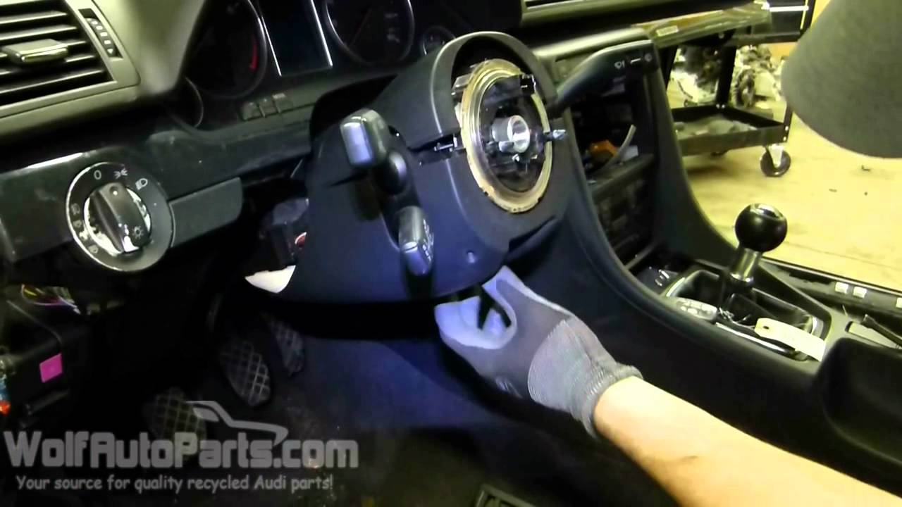 how to remove the steering column trim