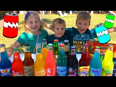 Family Soda Taste Test at Pops in Oklahoma