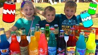 Family Soda Taste Test at Pops in Oklahoma
