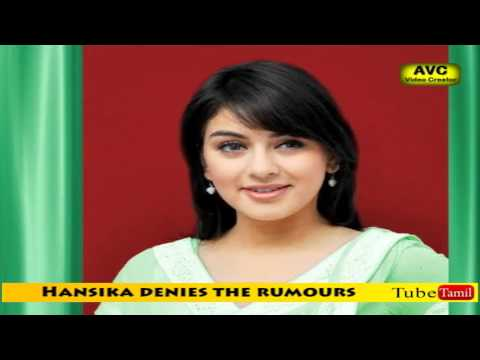 Hansika denied the rumours