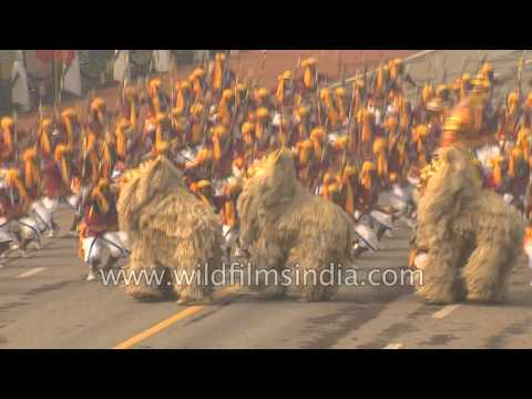 Students perform Saungi Mukhovta folk dance of Maharashtra