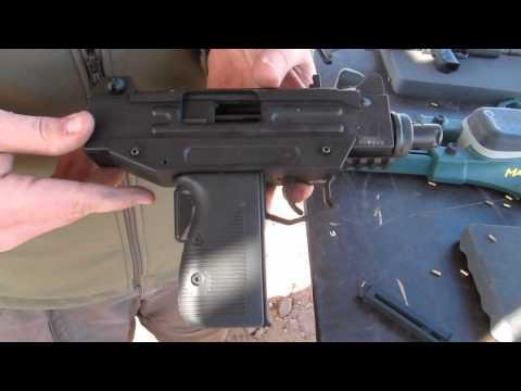 Shooting a UZI Pistol - Umarex.  IWI