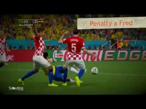 Brasil vs Croacia - Penalty a Fred