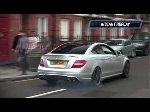 C63 AMG Coupe Start Up, Rev and Wheelspin