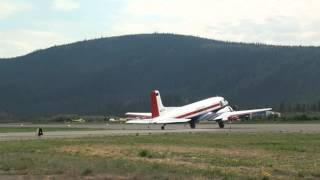 dc-3  take off Dawson City with start up