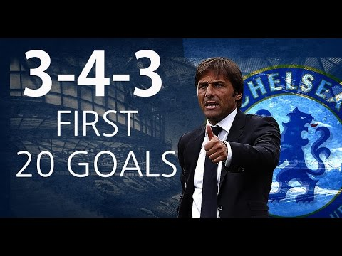 Conte`s Chelsea - First 20 Goals With The 3-4-3 Formation - HD