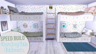 The Sims 4 Speed Build | QUADRUPLETS BEDROOM + CC Links