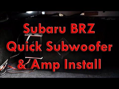 Subaru BRZ Quick Subwoofer Amp Install
