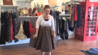 vintage inspired dresses - plus size style tips