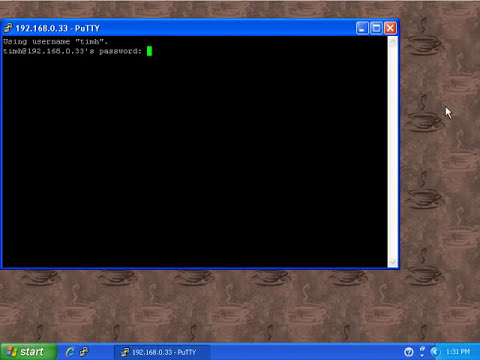 Installing Putty ssh client on Windows