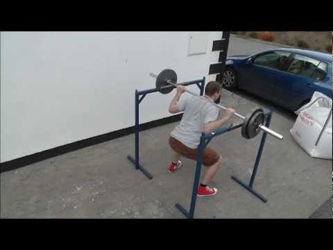 Homemade squat rack and dip station youtube for How to make a homemade squat rack