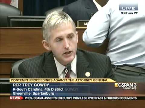 Rep. Trey Gowdy (R-SC) Slams Administration Over Fast & Furious