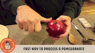 Fast Way to Process a Pomegranate
