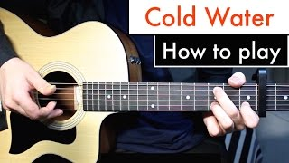 Cold Water - Justin Bieber (Major Lazor) Guitar Lesson Tutorial Chords