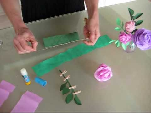 Fleur de youtube - Comment faire une rose en papier facile ...