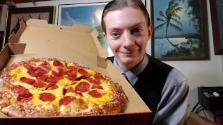 Reviewing Little Caesars NEW Pretzel Crust Pizza!