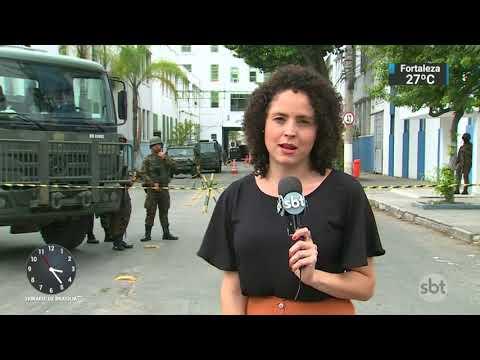 Bandidos tentam invadir quartel onde são guardadas armas do Exército | SBT Notícias (20/11/17)