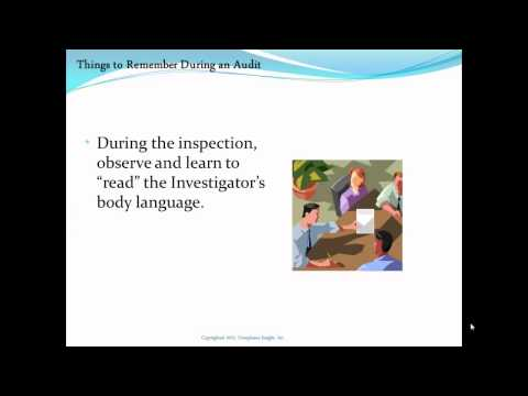 FDA Inspection Do and Don't List