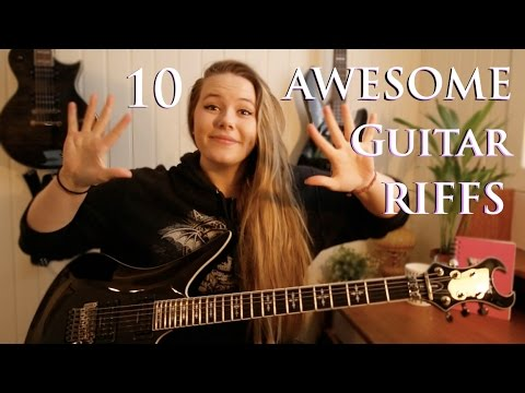 10 AWESOME Guitar Riffs!! | Adunbeetalks