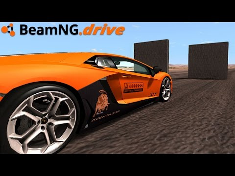 BeamNG.drive - Lamborghini Crash