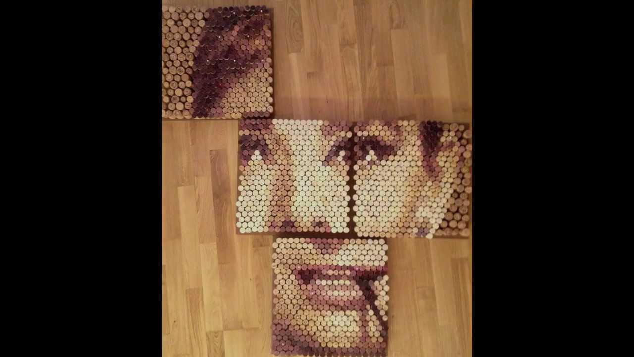 Audrey hepburn wine cork art youtube