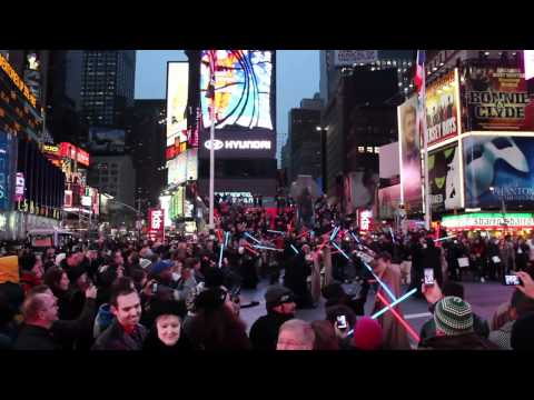 star wars / old republic - flashmob in times square - 12.20.11