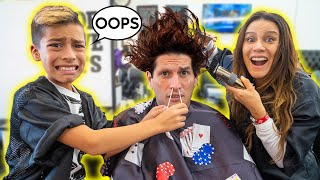 CUTTING People's HAIR For a DAY! BAD IDEA... | The Royalty Family
