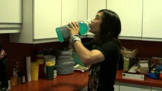128oz - Gallon Gatorade Chug in 37 Seconds.