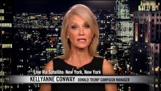 Bill Maher Spars with Trump Campaign Manager Kellyanne Conway | Real Time with Bill Maher (HBO)