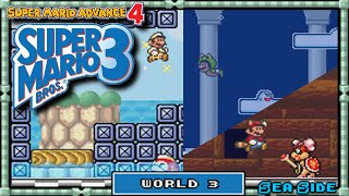 Super Mario Advance 4 - [Super Mario Bros 3] - Playthrough | World 3: Sea Side