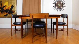 PureVintageNYC Etsy G-Plan Mid Century Modern Table & 6 Chairs